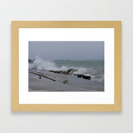 The Gale of Halloween '14 (Chicago Waves Collection) Framed Art Print