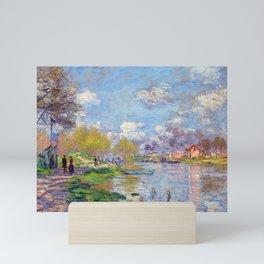 Claude Monet Spring by the Seine Mini Art Print