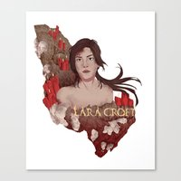 lara croft Canvas Prints featuring Lara Croft by Natalie Lucht