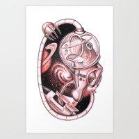 The Basstronaut Art Print