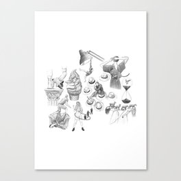 Ink Thoughts Seven Canvas Print