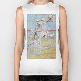 Almond blossoms in the glass Biker Tank