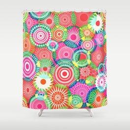 Kooky kaleidoscope Multicolored Shower Curtain