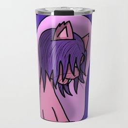 Pinkie Kitty | Veronica Nagorny Travel Mug