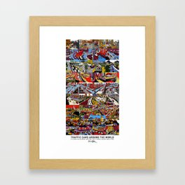 Traffic Cams Around the World Framed Art Print