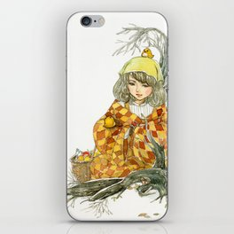Winter Story Time in the Forest iPhone Skin