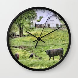 Lazy Days in the Country  Wall Clock