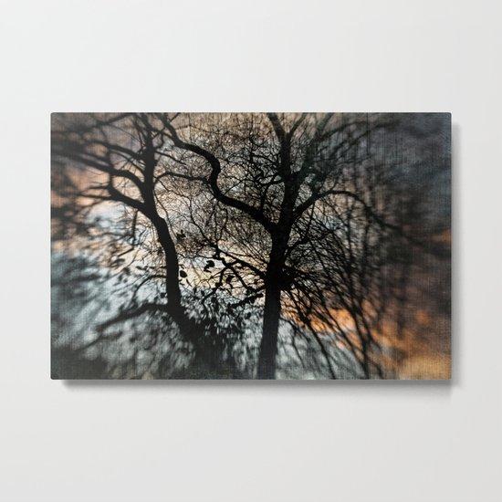 Bleak Winter Sunset Metal Print