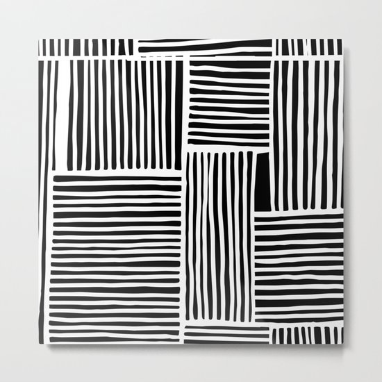 Crossed Lines II Metal Print