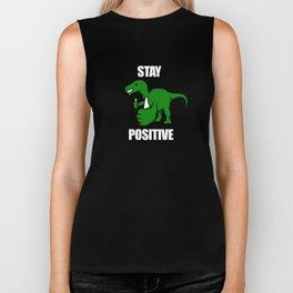 Stay Positive Iguanodon Biker Tank