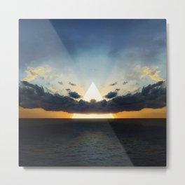 Abstract Environment 03: Volcano Metal Print
