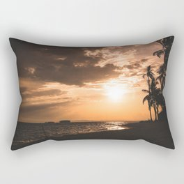 Sunset beach. San Blas, Panama Rectangular Pillow