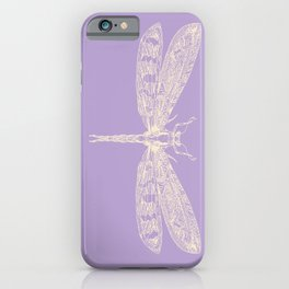 Lavender Dragonfly iPhone Case