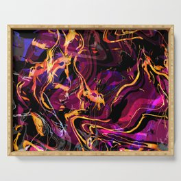 Fluid Abstract 40; Emotional Outburst Serving Tray