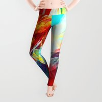 modern Leggings featuring Airplanes by Alice X. Zhang