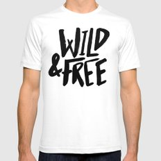 Wild & Free SMALL White Mens Fitted Tee