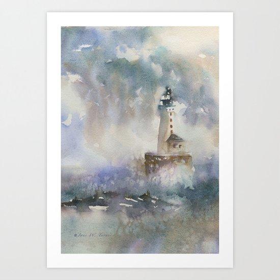 Stannard Rock Light Art Print