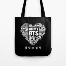 BTS ARMY Fan Art : Typography Tote Bag