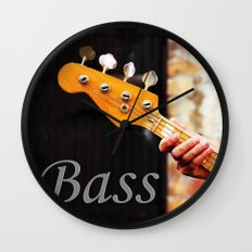 Bass Guitar neck , musical instrument  Wall Clock