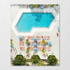 miami hotel aerial view Canvas Print
