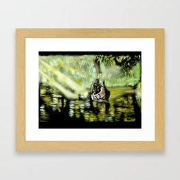 58 - Canoe through backwaters, sunny Alleppey, Kerala Framed Art Print