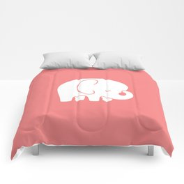 Mod Baby Elephant Coral Comforters