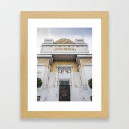 Secession building in Vienna Austria art nouveau Framed Art Print