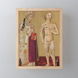 Giovanni di Paolo - Saints Fabian and Sebastian Framed Mini Art Print