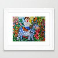 pony Framed Art Prints featuring Pony by oxana zaika