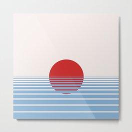 Abstract sunset print Metal Print