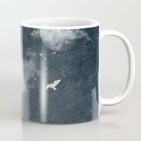 cloud Mugs featuring The cloud stealers by HappyMelvin