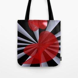 red white black -19- Tote Bag