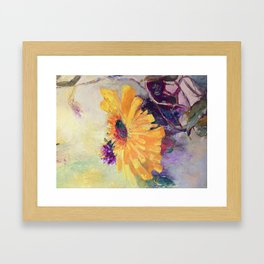 Floral Mum painting Framed Art Print