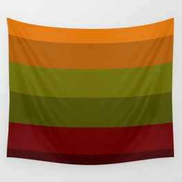 Cool Autumn Leaves - Color Therapy Wall Tapestry
