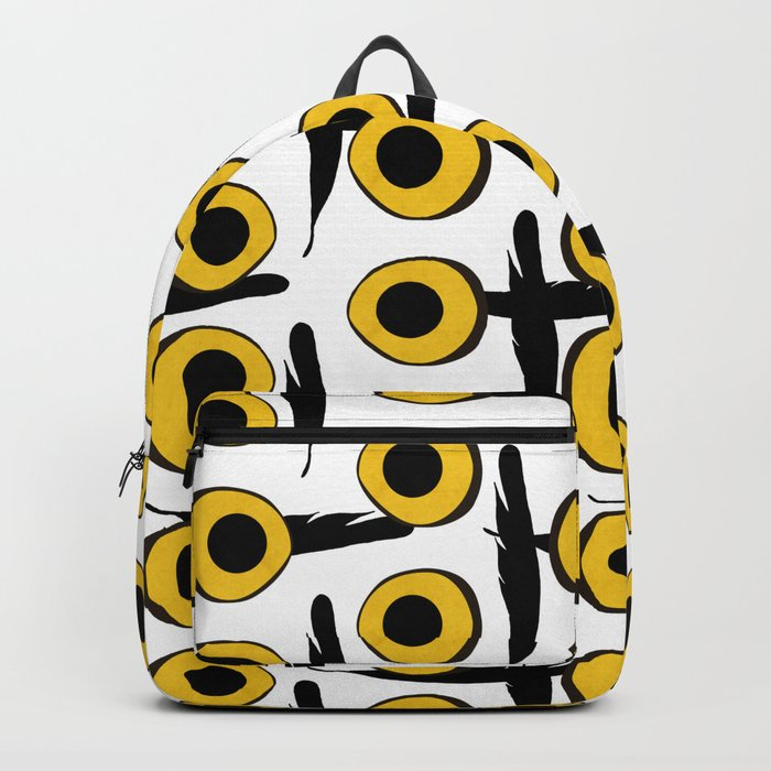 Snowy Owl Eyes Feathers Pattern Backpack