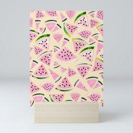 Watermelon Twist Vibes #6 #tropical #fruit #decor #art #society6 Mini Art Print