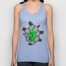 shikigami sculptural template 1 (Lush green) Unisex Tank Top