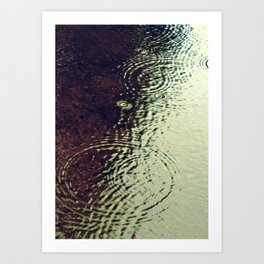 The Skin Of The Water Art Print
