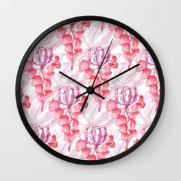 Vortex Floral Pattern from the Impossible Florals Series Wall Clock