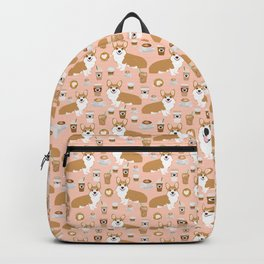 Corgi coffee welsh corgis dog breed pet lovers pink corgi crew pet lovers Backpack