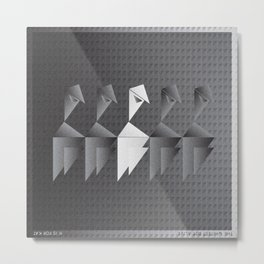 Music in Monogeometry : The Whitest Boy Alive Metal Print