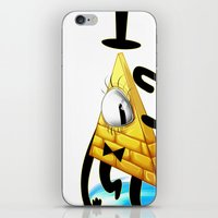 bill cipher iPhone & iPod Skins featuring Bill Cipher by Draikinator