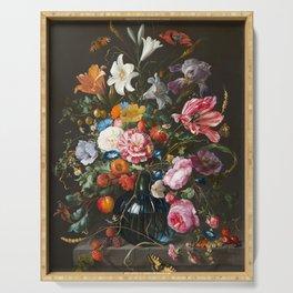 Vase with flowers - Jan Davidsz. de Heem (1670) Serving Tray