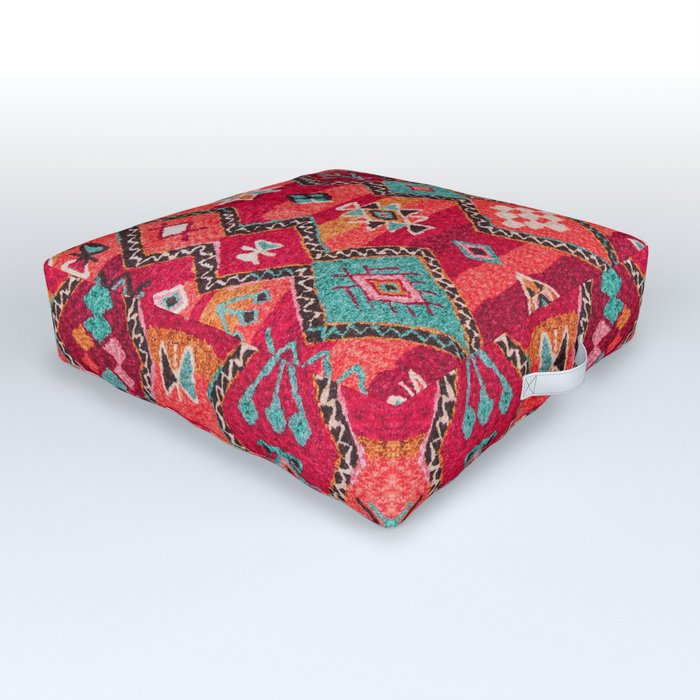 N18 - Traditional Colored Oriental Moroccan Artwork Outdoor Floor Cushion
