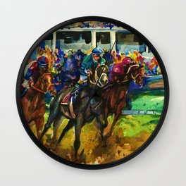 The Race No. 2 by Kathy Morton Stanion Wall Clock