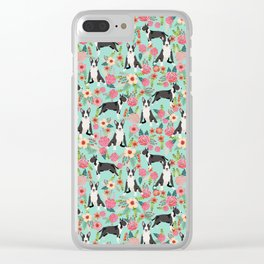 Bull Terrier floral dog breed gifts pet pattern by pet friendly bull terriers Clear iPhone Case