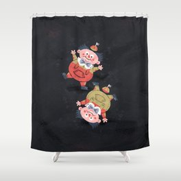 Tweedledee and Tweedledum - Alice in Wonderland Shower Curtain