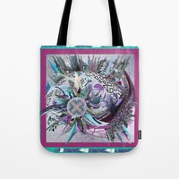 manchester Tote Bags featuring Manchester whirl by Sabah