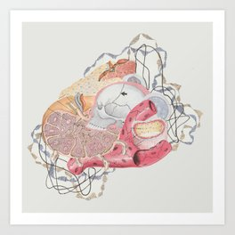 Collage with Medical Illustration Art Print