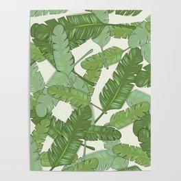 Banana Leaf Print Poster